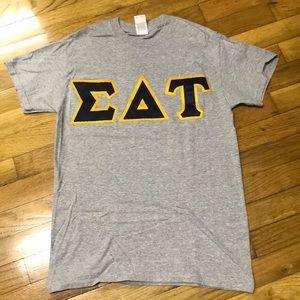 Sigma Delta Tau Twill Lettered T-Shirt